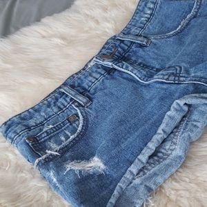 Free People cut off denim distressed shorts 26 27